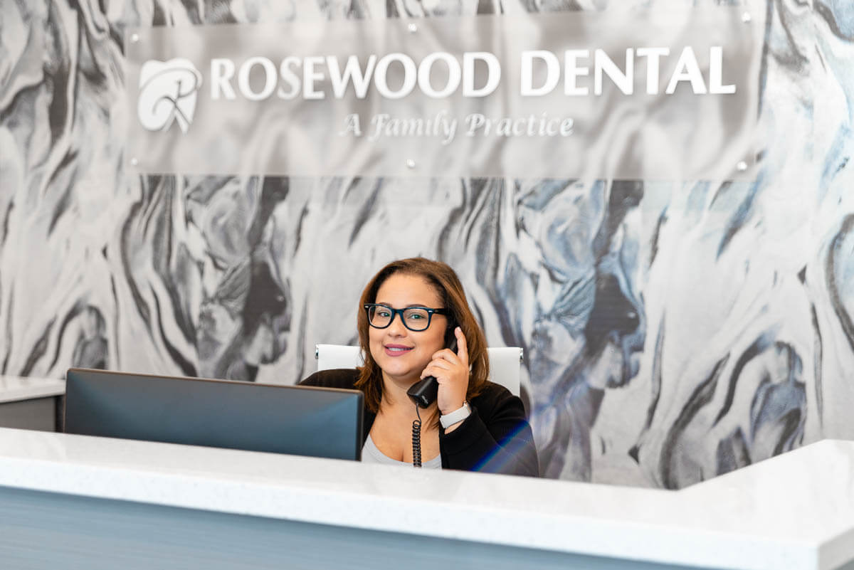 Receptionist at Rosewood's front desk